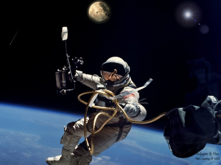 Walking In Space 1600x1200 - Astronauts, Space, NASA, Spacewalk, Orbit