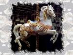 White Carousel Horse 2