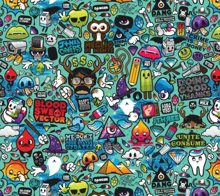 Funny Cute Collages Abstract Background Wallpapers On