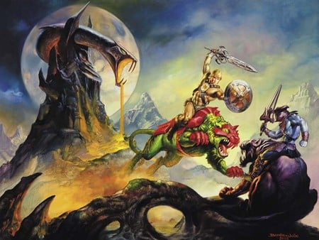 Heman and Skeletor