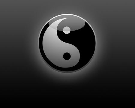 Yin Yang 3D Symbol Wallpaper - yin, yinyang, symbol, yang, yin yang, wallpaper, 3d