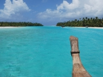 Boat ride to One Foot Island Aitutaki Cook Islands
