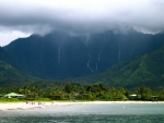 Mountain Peaks overlooking Hanalei Bay Hawaii Polynesia