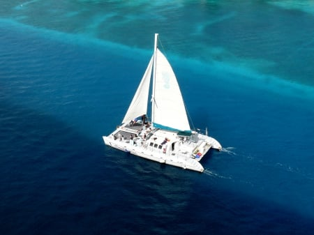 A Day in the Harbor - sailing, sail boat, catamaran, Nassau
