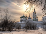 vvedensky tolga convent russia in winter