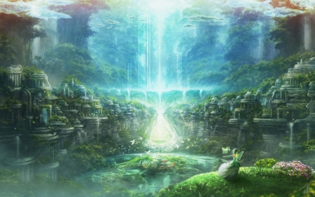 Landscape Fantasy Anime Background