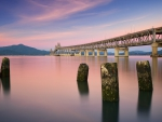lovely richmond san rafael bridge in frisco bay