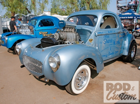 Willys Coupe - Blue, Whitewalls, Ford, Classic