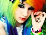 Emo Rainbow Girl
