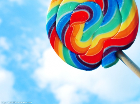 Lollipop - red, purple, green, yellow, blue