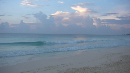 Good Morning from Cancun - Water, Sky, Mexico, Ocean, Beach, Cancun