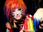 Colorful Rainbow Emo Cat Girl