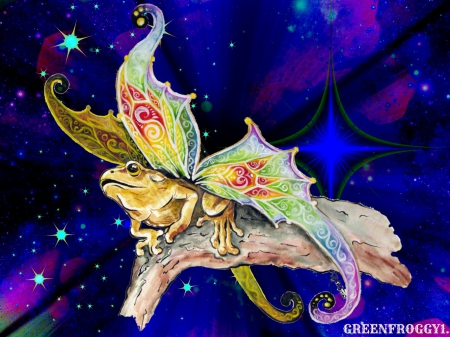MYSTICAL FROG - CREATION, ABSTRACT, FROG, MY
