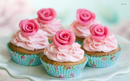 Rose cup cakes - Pink, Lovely, Cup cakes, Rose, Cakes
