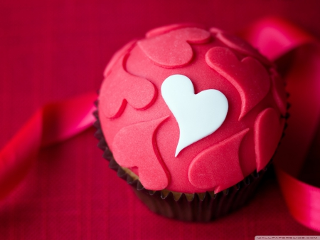 Pink heart cake - Cup cake, Cake, Love, Pink, Lovely, Heart