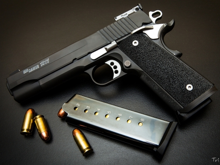 Sig Sauer 1911 - firearm, pistol, thrill, weapon