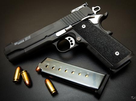 Sig Sauer 1911 - firearm, weapon, thrill, pistol