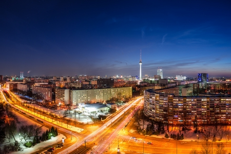 Berlin, Germany - evening, streets, lights, capital