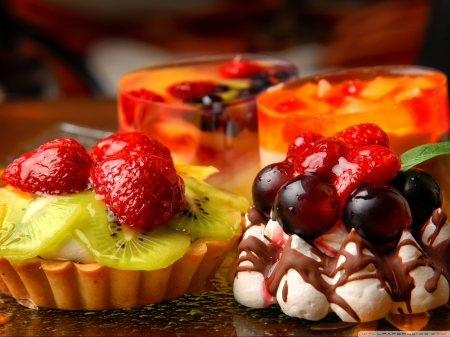 Desserts! - Fruits, Desserts, Food, Sweets