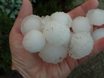 Giant hail England