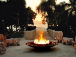 Firepit at Dusk - Tropical Southsea Island