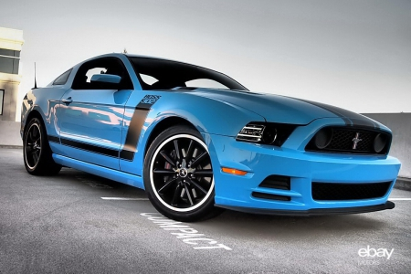 2013 Ford Mustang Boss 302 - grabber blue, boss, black, 302, ford, car, new, blue, fast