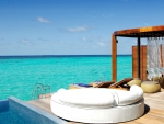 Blue Lagoon View from comfort of Luxury Water Villa - Paradise Island