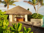 Luxury Tiki Hut beach Villa by Pool and beach - desert island