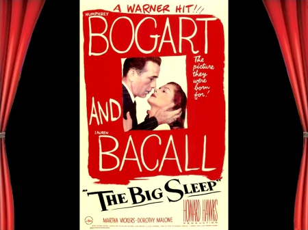 The Big Sleep01 - posters, crime drama, classic movies, The Big Sleep