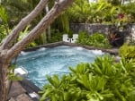 Tropical Jacuzzi in a lush plant grotto - Big Island Hawaii