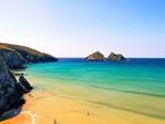 Holywell Bay Beach and Ocean Cornwall England