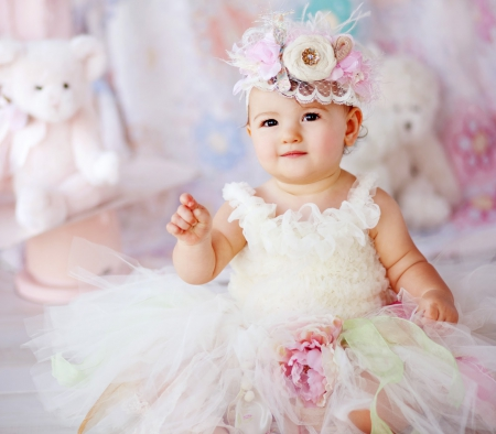 lovely baby girl - cute, baby, girl, people