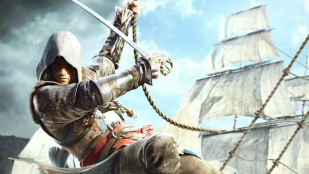 Assassin's Creed IV : Black Flag - ac 4, ps3, revelations, assassins creed, ubisoft, brotherhood, altair, game, ezio, Connor, Black Flag, pirate, Edward Kenway, xbox 360, assassins creed 4, pc