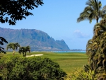 Princeville Ocean View Golf Course overlooking beach and cliffs Kauai Hawaii