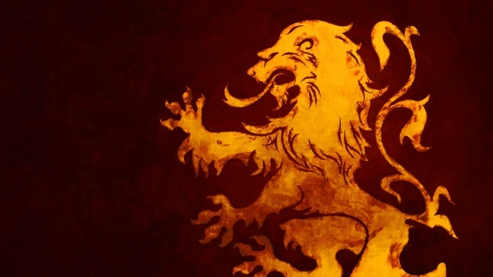 Game of Thrones - The Sigil of House Lannister - house, westeros, game, picture, show, fantasy, tv show, wallpaper, George R R Martin, Sigil, Targaryen, GoT, essos, fantastic, HBO, Lion, a song of ice and fire, Game of Thrones, thrones, medieval, entertainment, skyphoenixx1