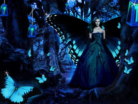 Fantasy butterfly wings - photo#48