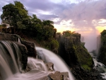 the mighty victoria falls gorge in zimbabwe