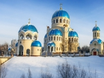 gorgeous orthodox church in winter