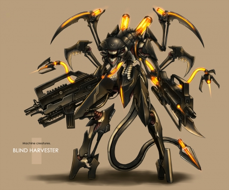 Mecha - guns, cool, mecha, mech, anime, robot