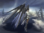 Anime girl,the cold steel wings