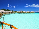 Paradise Lagoon at Bora Bora Tropical Island