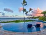 Beautiful Sunset by Swimming Pool Maui Island Hawaii