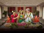 Hawaiian Locals make Lei Garlands for Lei Day in Hawaii May 1st