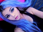 Lavender Blue Hair