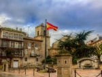 lovely square in la coruna spain hdr