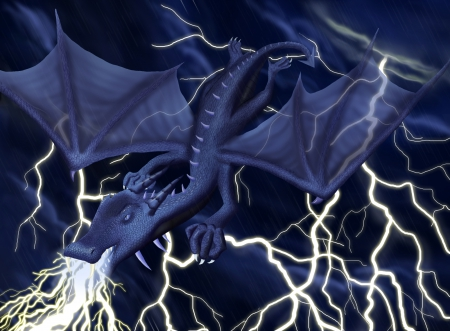Blue Lightning Dragon Fantasy Abstract Background Wallpapers On Desktop Nexus Image 1537253