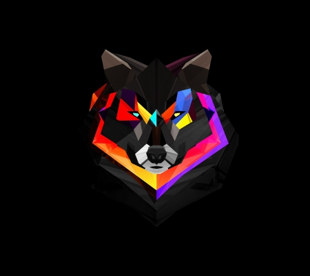 Multicolor Wolf Graffiti Abstract Background Wallpapers