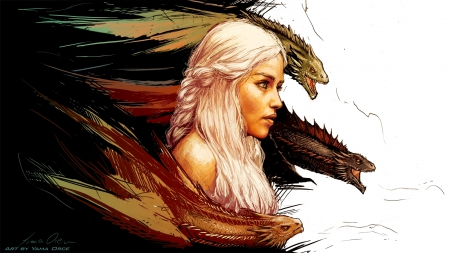 DRAGON GIRL - Dragons, Movies, Blonde, Girls, Game of Thrones