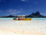 Beautiful Beach Bora Bora Tahiti South Pacific Islands