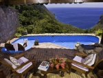 Paradise Hotel in the Mountains overlooking Ocean St Lucia Caribbean